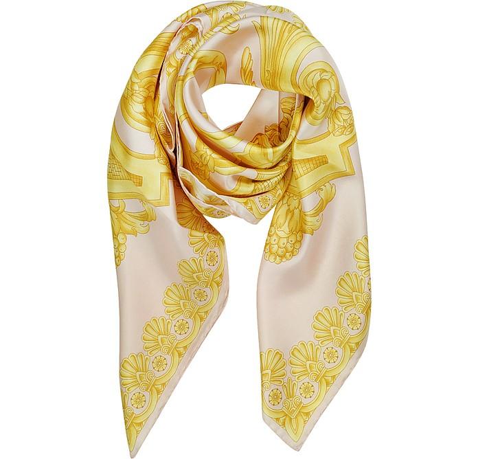 Ornamental Baroque Print Silk Square Scarf - Versace
