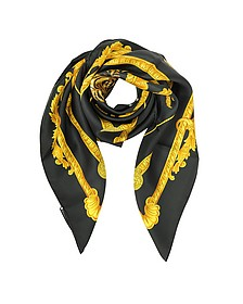 Tigris Print Silk Square Scarf - Versace