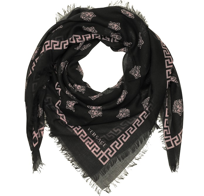 Medusa Printed Silk and Modal Wrap - Versace
