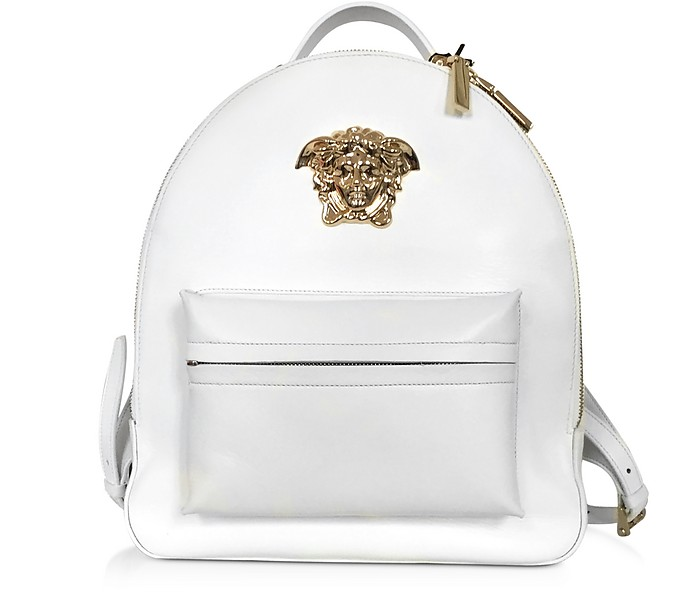 Medusa Palazzo White Nappa Leather Backpack - Versace
