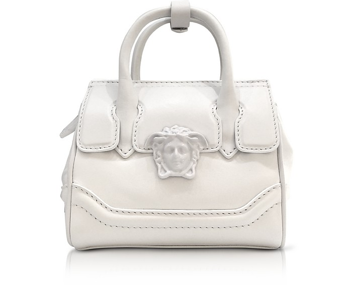 b21e8d949e Versace Palazzo Empire White Leather Mini Handbag at FORZIERI