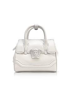 Palazzo Empire - Mini Sac à Main en Cuir Blanc - Versace