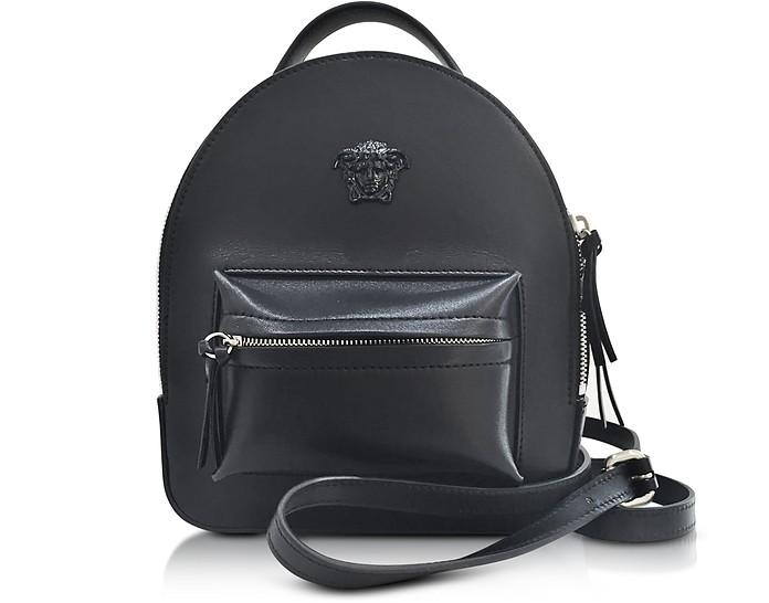 180bb39127 Versace Palazzo Black Leather Mini Backpack at FORZIERI UK