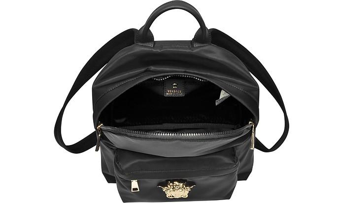 Black Nylon Palazzo Backpack Versace 1Hg3OKV