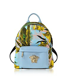 Jungle Print Cotton and Nappa Leather Palazzo Backpack - Versace