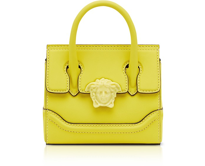 6eca6e9a2e Versace Lemon Leather Palazzo Empire Mini Handbag at FORZIERI UK