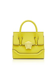 Lemon Leather Palazzo Empire Mini Handbag - Versace
