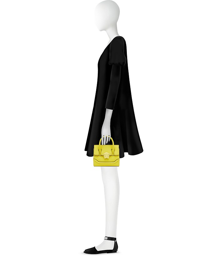 bc509bb50bf1 Versace Lemon Leather Palazzo Empire Mini Handbag at FORZIERI