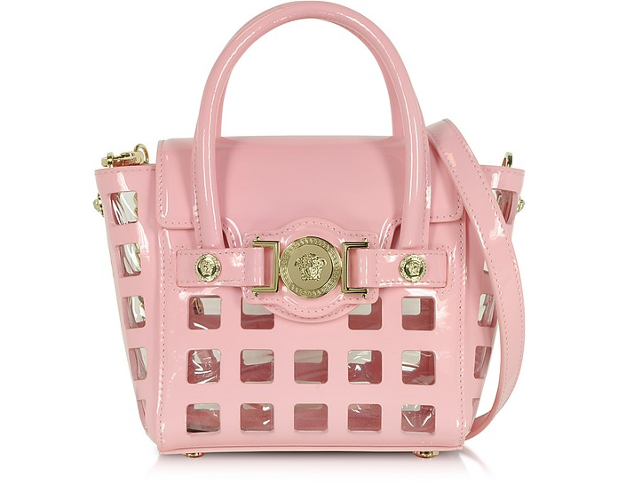7135579d5ec4 Versace L. Signature Pink Patent Leather Small Shoulder Bag at FORZIERI