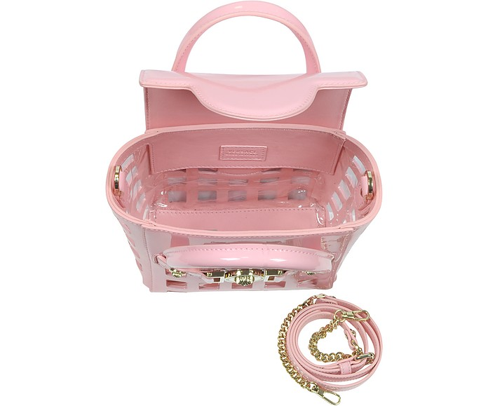 52962413a8e6 Versace L. Signature Pink Patent Leather Small Shoulder Bag at FORZIERI
