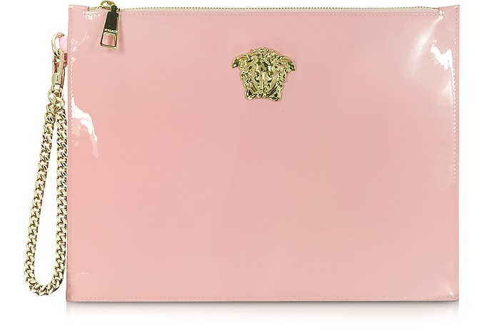 Palazzo Pink Patent Leather Pouch - Versace