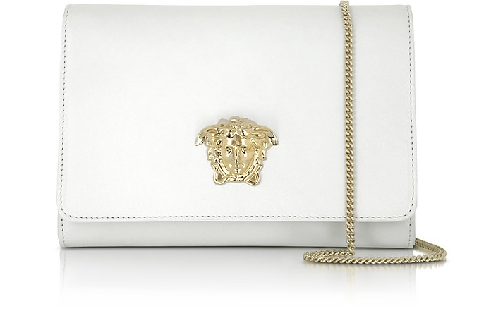 Palazzo White Leather Crossbody - Versace
