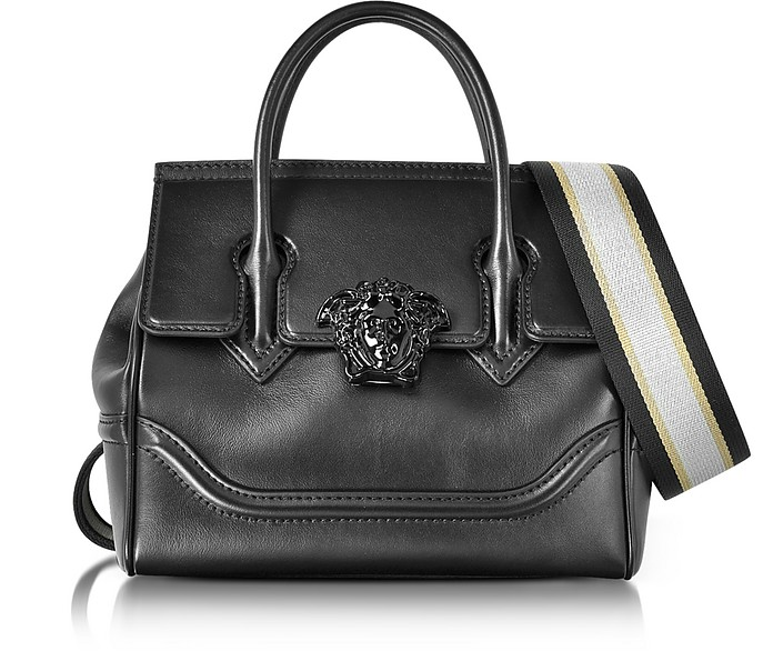 Palazzo Empire Black Medusa Satchel Bag - Versace