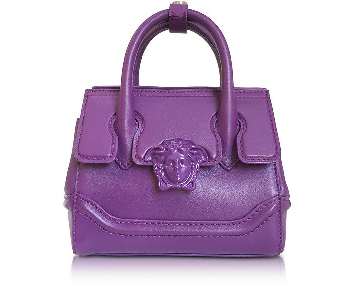 Palazzo Empire Serene Viola Leather Mini Handbag - Versace
