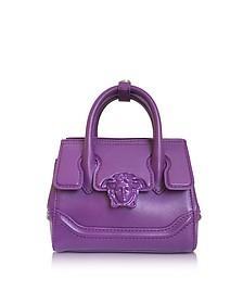 Palazzo Empire Serene Viola Leather Mini Handbag - Versace