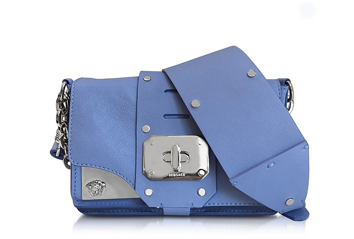 Stardust Blue Breeze Leather Mini Shoulder Bag - Versace