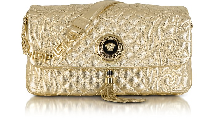 Laminated Vanitas Medea Shoulder Bag - Versace