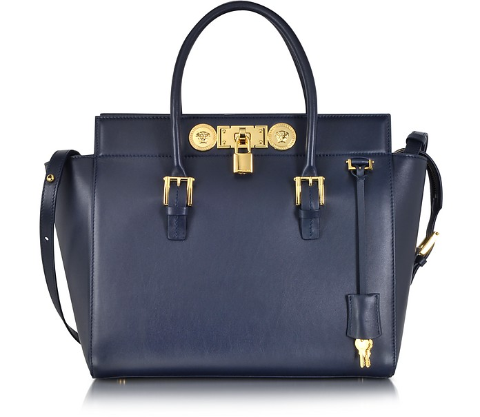 ee0e25cccf5b Versace Large Signature Lock Handbag at FORZIERI