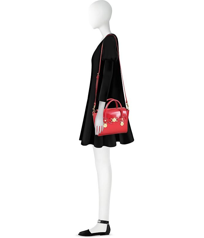 4b4c8acdbb Versace Small Signature Eros Red Patent Leather Handbag at FORZIERI