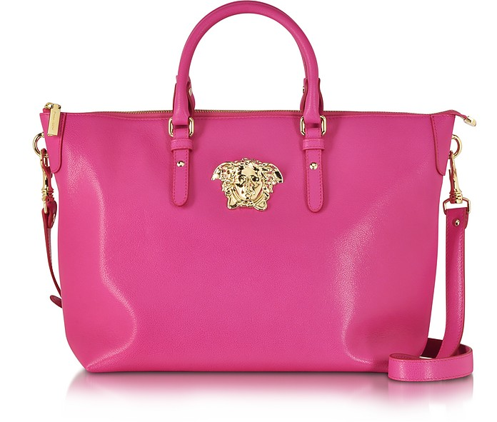 0b0683af40 Versace Palazzo Small Marilyn Pink Leather Tote Bag at FORZIERI