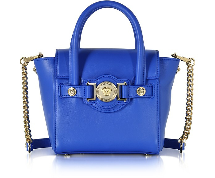 4d1dd19a04 Versace Blue Leather Signature Mini Bag at FORZIERI