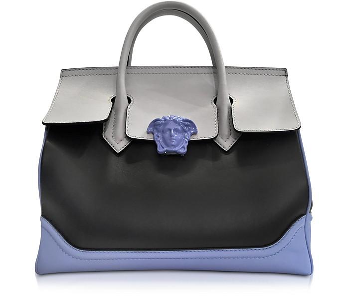 Versace Palazzo Empire Tricolor Leather Tote Bag at FORZIERI f90fa1869b28c