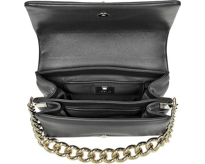 5c71aae4cad0 Versace Palazzo Black Shoulder Bag w Golden Medusa   Chain at FORZIERI