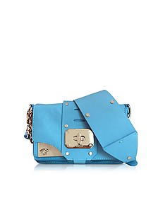 Stardust Turquoise Leather Mini Shoulder Bag - Versace