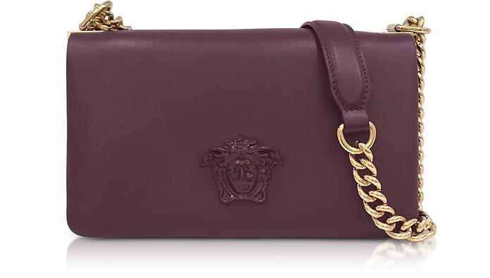 b35d3b0ec6 Versace Burgundy Palazzo Nappa Leather Shoulder Bag w Medusa at ...
