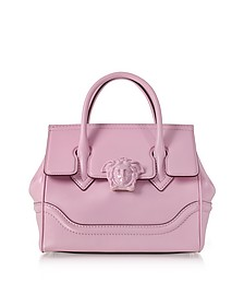 Palazzo Empire Pink Leather Satchel Bag - Versace