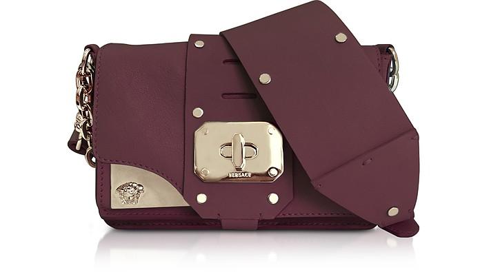 Stardust Burgundy Leather Mini Shoulder Bag - Versace