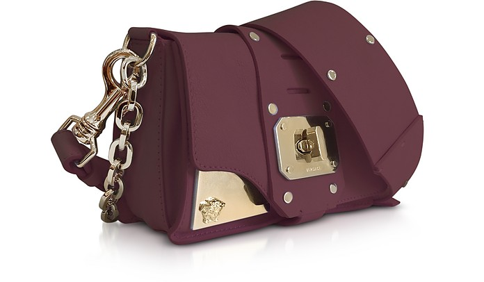 85bf04ce Versace Stardust Burgundy Leather Mini Shoulder Bag at FORZIERI