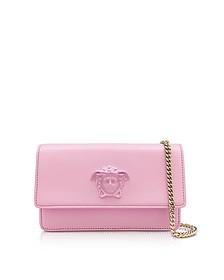 Palazzo - Маленькая Розовая Кожаная Сумка - Versace