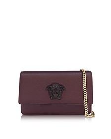 Palazzo 酒红色晶粒皮革小号袋 - Versace 范思哲