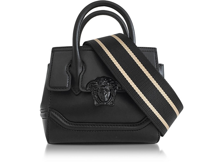 611b26ccbb Versace Palazzo Empire Black Leather Mini Handbag at FORZIERI Canada
