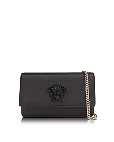 Palazzo Black Grained Leather Small Pouch - Versace