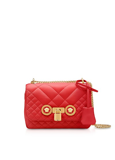 Small Quilted Leather Icon Small Shoulder Bag - Versace