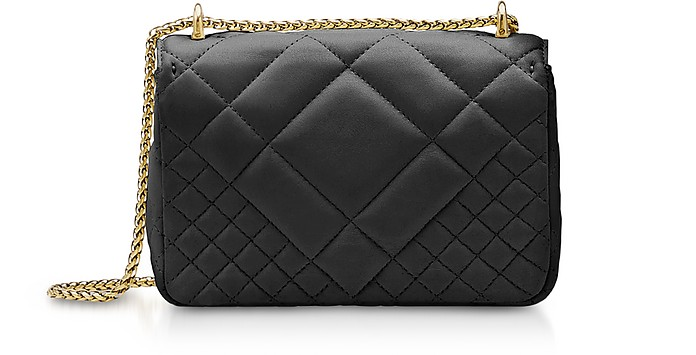 392a33336bee Versace Black Small Quilted Leather Icon Small Shoulder Bag at FORZIERI