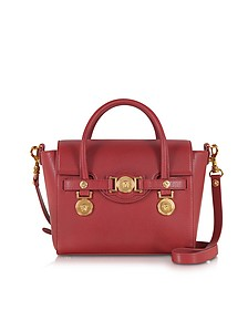 Ruby Red Leather Small Signature Bag