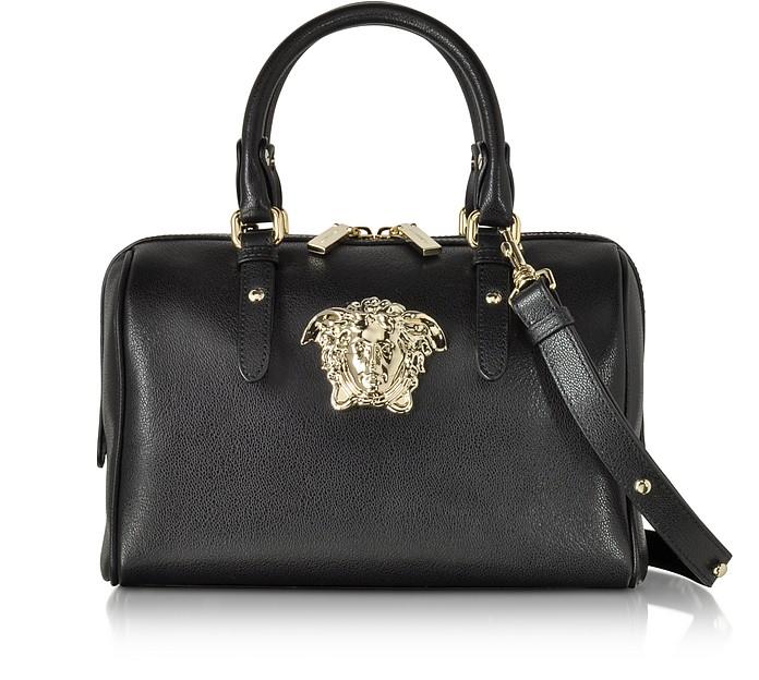 Palazzo Black Leather Satchel - Versace