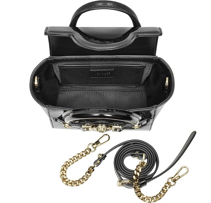 cdba1582 Versace Black Patent Leather Signature Mini Bag