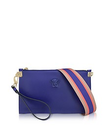 Medusa Indac Leather Small Pouch w/Detachable Shoulder Strap - Versace