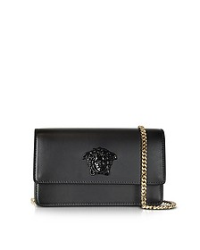 Palazzo Black Smooth Leather Small Pouch - Versace