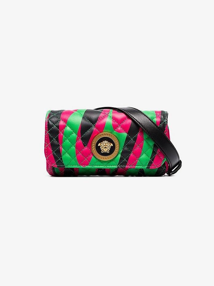 Multicoloured Medusa quilted leather belt bag - Versace