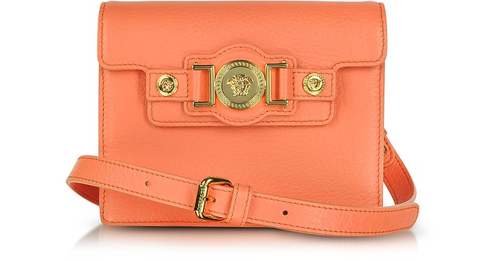 Leather Mini Messenger Bag - Versace