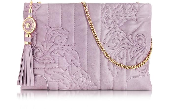 Vanitas Mauve Leather Shoulder Bag - Versace