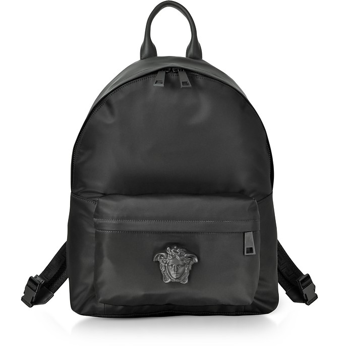 a6809b90887e Versace Black Nylon Medusa Head Men s Backpack at FORZIERI