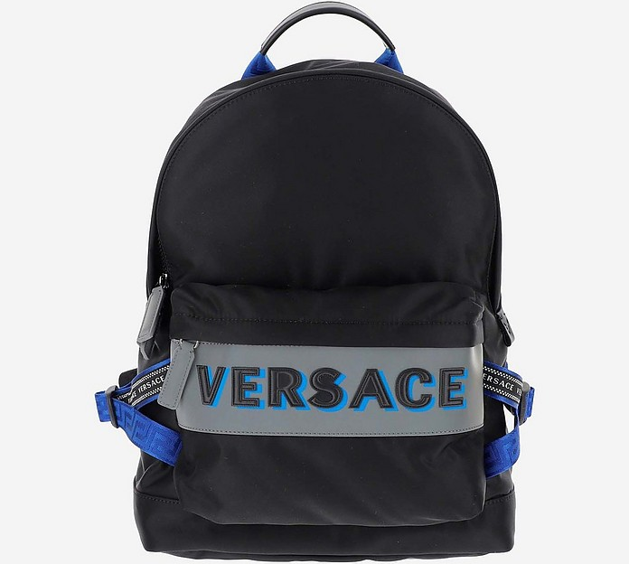 Black Nylon Backpack - Versace