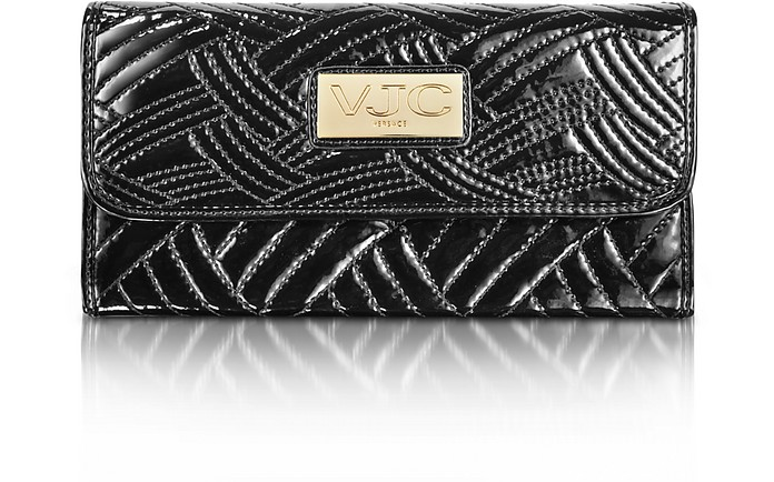 VJC - Quilted Soft Naplak Long Flap Wallet - Versace
