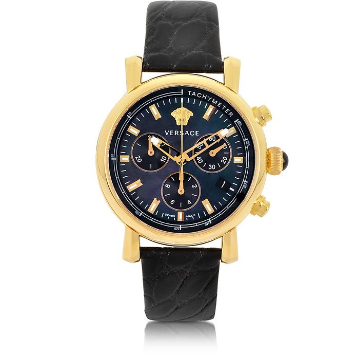 Black and Gold Women's Chronograph Watch - Versace